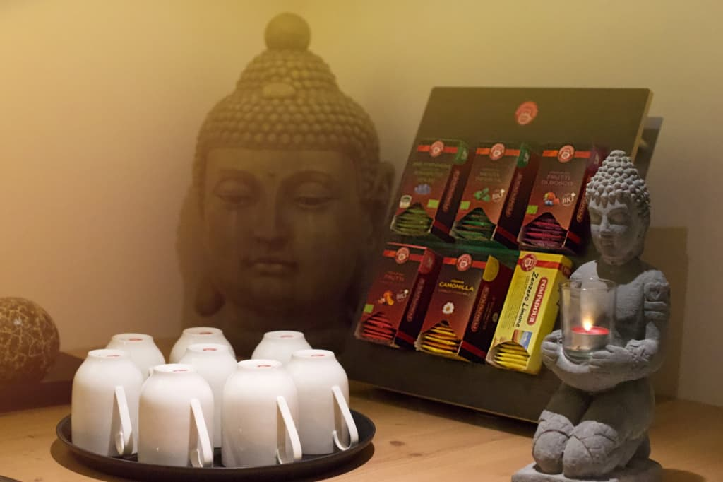 Tea corner at Wellness area